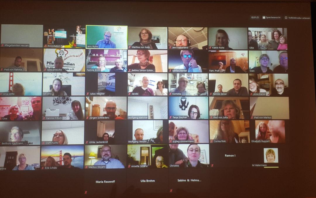 Virtuelle Tagung für Pflegeeltern